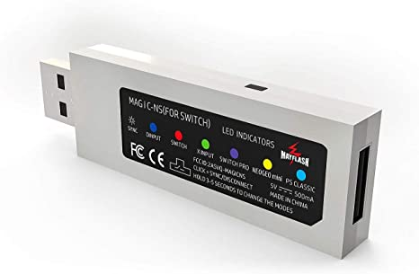 MAGIC-NS Wireless & Wired Controller Adapter Compatible con NeoGeo Mini para NINTENDO SWITCH & PC: Amazon.es: Videojuegos