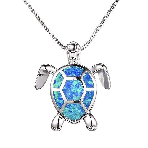 01ed7f75b94cd Vanessa Australian Fire Opal Sea Turtle Rings Pendant Necklace 18 quot   Birthstone Birthday Christmas Jewelry Gifts