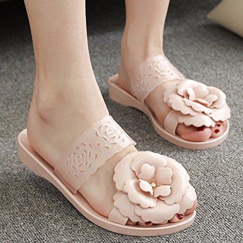 chaussons Pantoufles et XIAOGEGE Femme Fleur Porter Mode Cool Chaussures rose 8xRxwAB