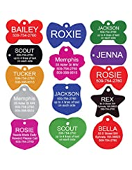GoTags Pet ID Personalized Pet Tags for Dogs and Cats. Front ...