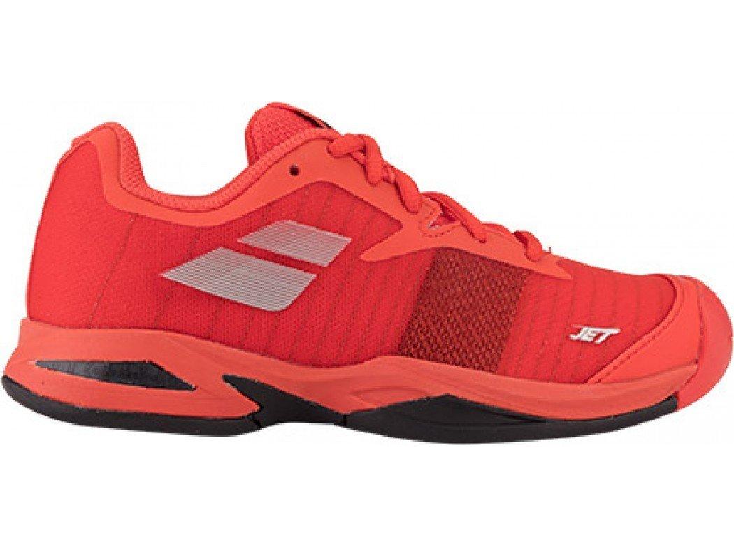 Babolat Juniors Jet All Court Tennis Shoes B07992TGR2 5 M US Big Kid|Orange