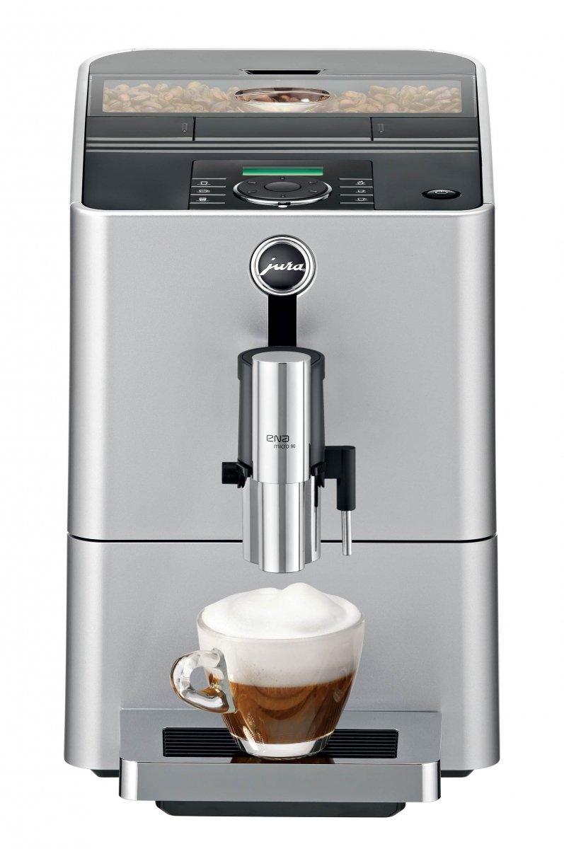 Jura ENA Micro 90 Espresso machine 1.1L Silver - coffee makers (freestanding, Espresso machine, Silver, Cup, Fully-auto, Coffee beans, Ground coffee) 15061
