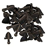 Mxfans 30 x Corner Decorative Antique Brass Metal Corner for Chest Jewelry Gift Boxes