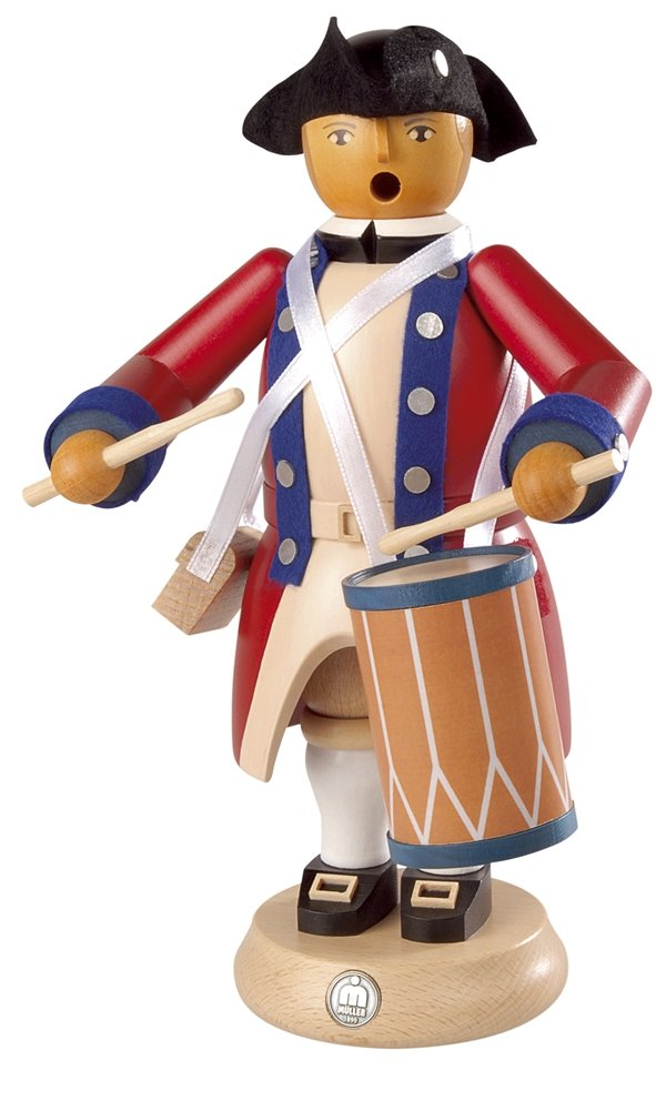 Incense man military drummer, 24cm Virginia State Garrison regiment