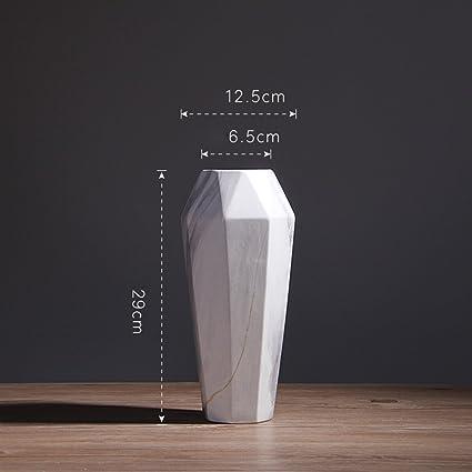 . Amazon com  QINGF Nordic Creative Marble Pattern Vase Modern