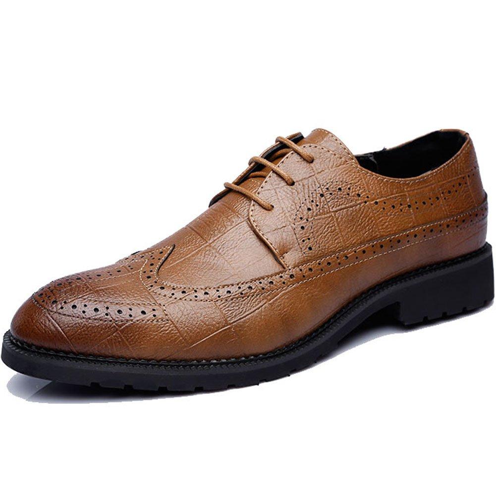 MYC Men's Bram Diamond Leather Oxford Shoe Yellow