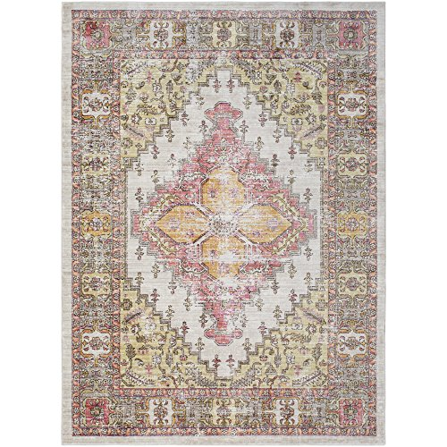 Lancelot Coral and Beige Updated Traditional Area Rug 2' x 3' ()