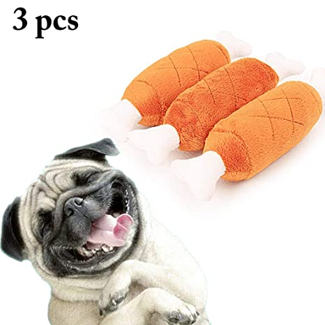 Legendog 3 Unids Juguetes para Perros Artificial Pierna De Pollo Juguete Chirriante Mascota Masticar Juguete para