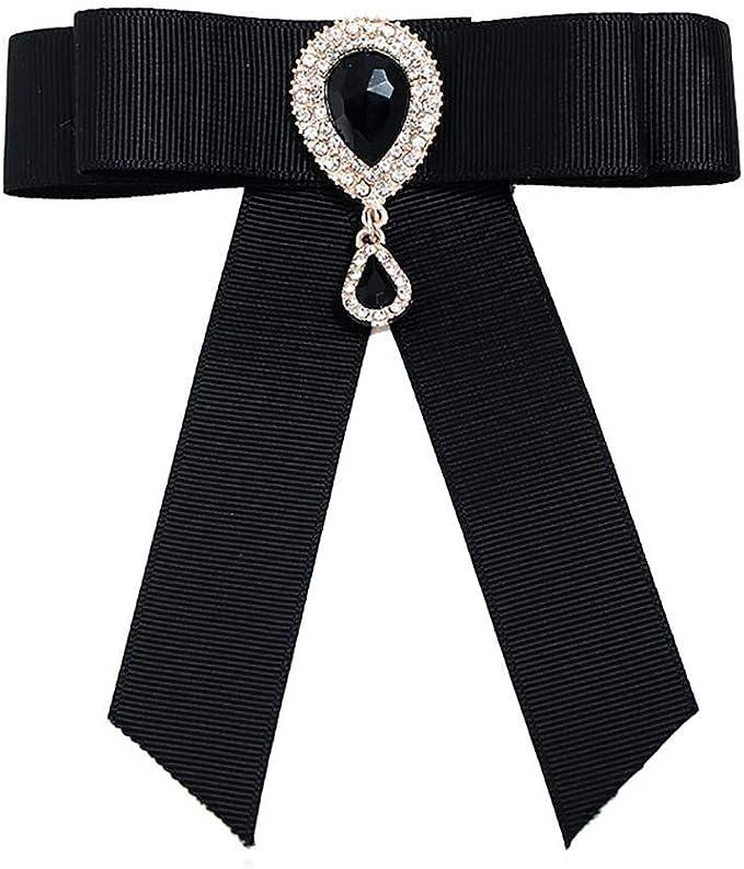 Gespout Rayón Broche de Lazo Camisa de Mujer Corbata de Moño ...