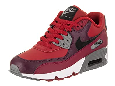 online store 81bdc 0204b Image Unavailable. Image not available for. Color  Nike Big Kids Air Max 90  Leather Running Shoes