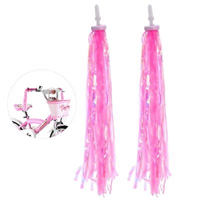 BESPORTBLE 1 Pair Childrens Bicycle Handlebar Streamers Bicycle Grips Tassels Pink : Sports & Outdoors