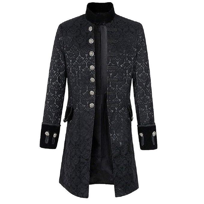 b8550901873 Darkrock Mens Jacket Velvet Goth Steampunk Victorian Frock Coat Handmade   Amazon.ca  Clothing   Accessories