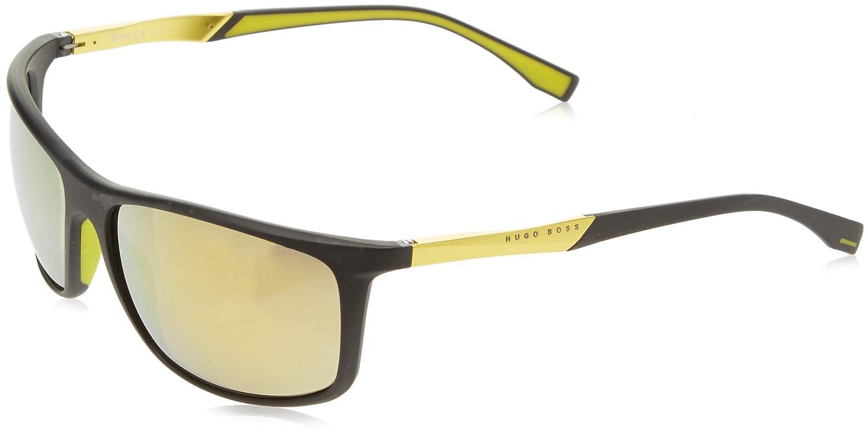BOSS Hugo 0707/P/S C4 MOP Gafas de sol, Negro (Mtblk Yellow/Brw Yelsp Pzole), 63 Unisex-Adulto