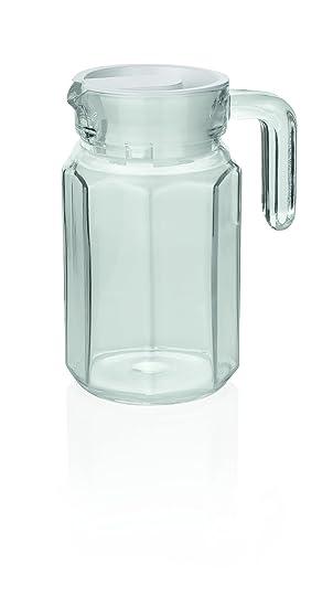2 X Glas Pitcher Saftkrug Krug Glaskanne Kühlschrankkrug