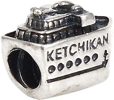 Silver Coloured Suitcase Luggage European charm bead Travel Holidays Cruise