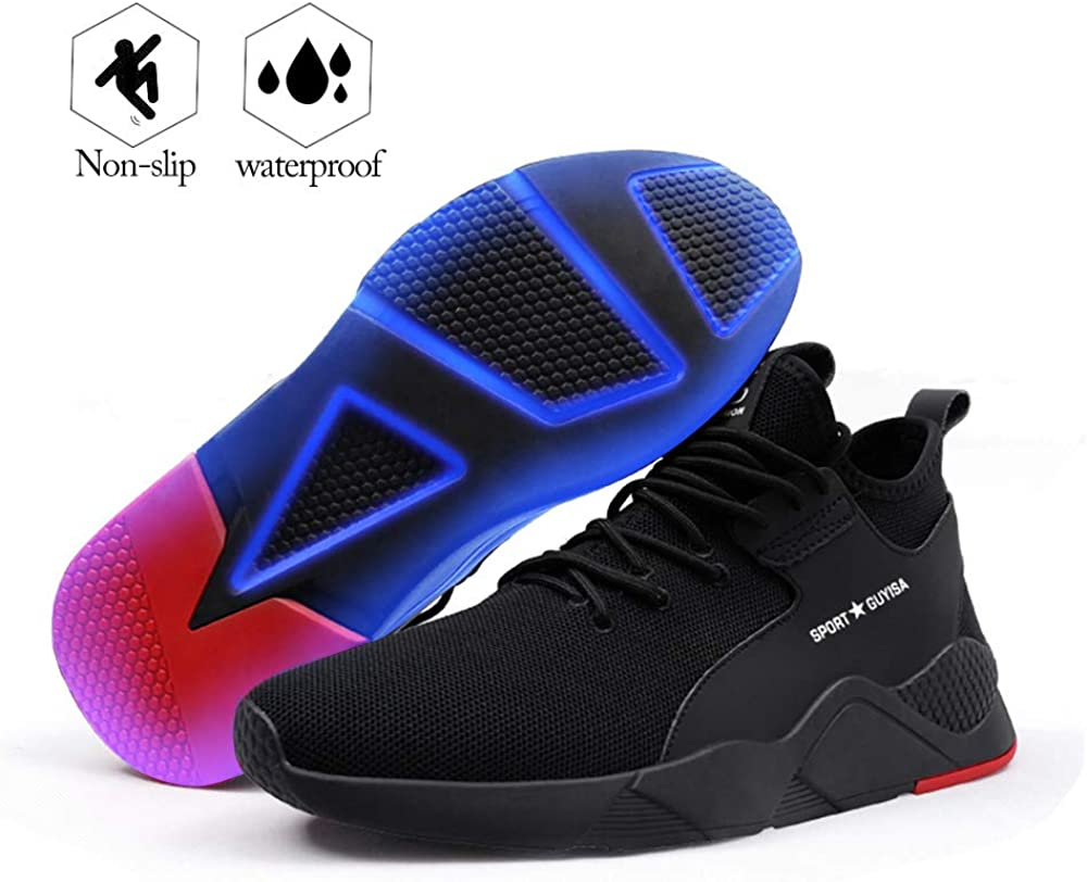 Breathable Outdoor Steel Toe Footwear Industrial and Construction Advisable Shoes DZRQ Mens Work Safety Shoes,Hiking Shoes