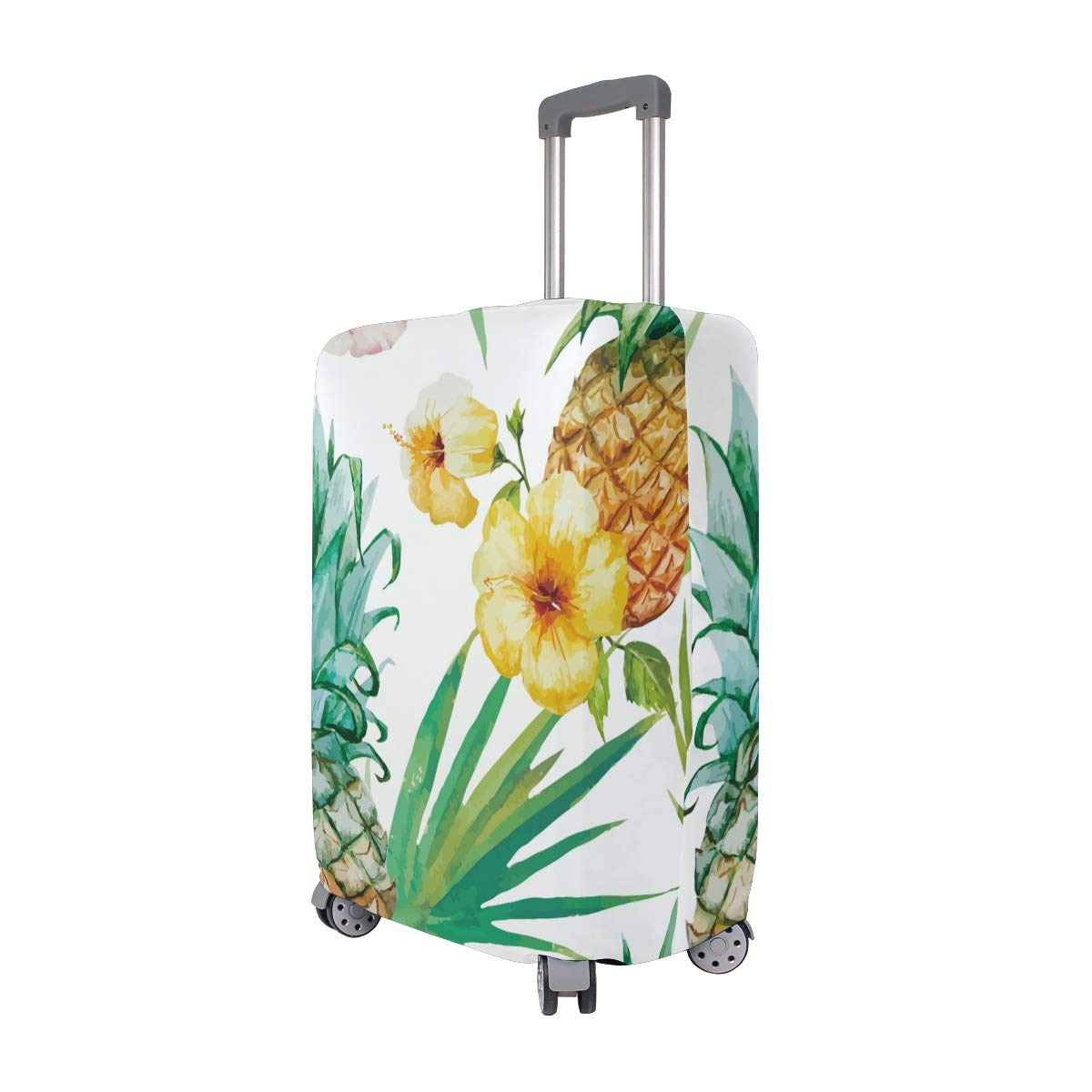 Baggage Covers Watercolor Tropical Plant Pineapple Washable Protective Case