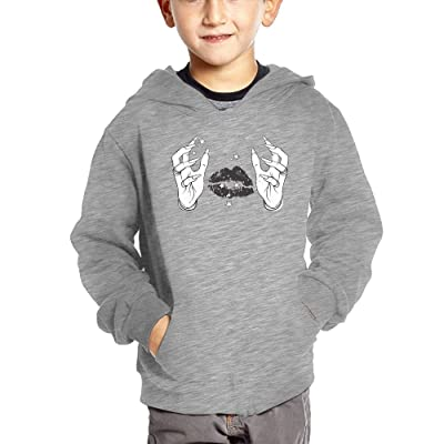 Finger Lips Unisex Baby Casual Hoodies Autumn Winter Sweatshirt