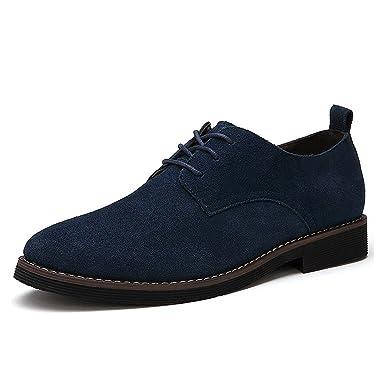 5eb2e340d35 CCZZ Zapatos de cordones de ante para hombre Zapatos de Cuero Casual Oxford