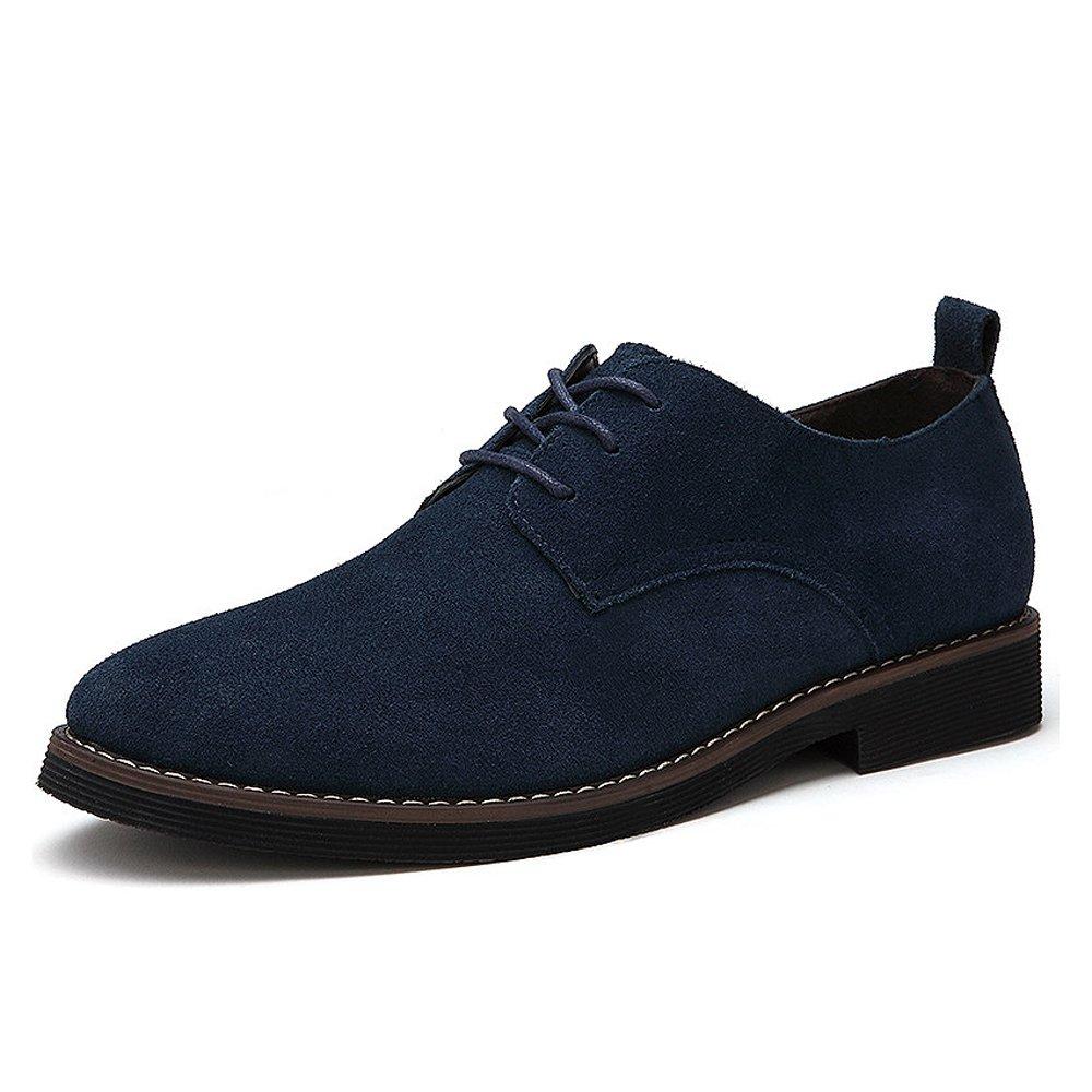 TALLA 48 EU. CCZZ Zapatos de cordones de ante para hombre Zapatos de Cuero Casual Oxford