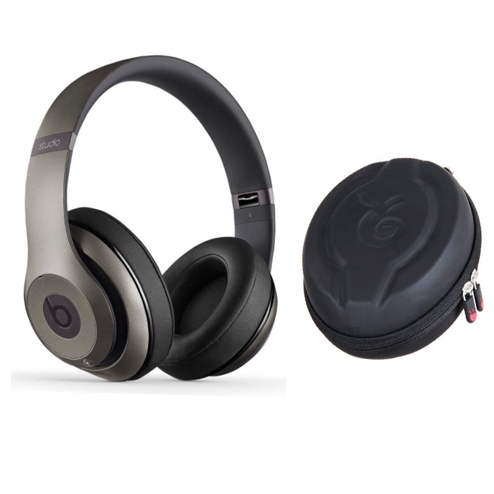 Beats Studio wireless headphone and Premium EVA Protective Case (TITANIUM)