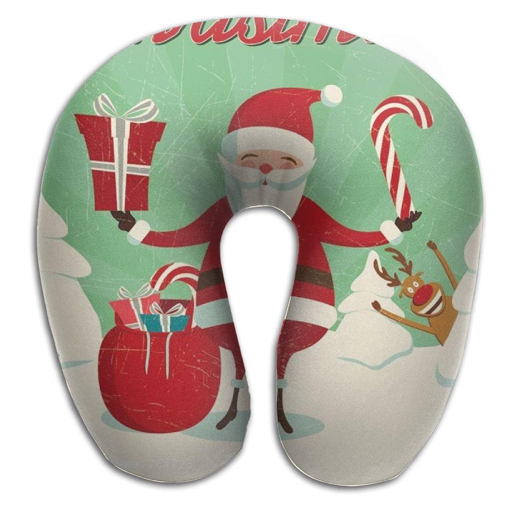Merryクリスマスメモリーフォーム旅行首枕   B077713TRC