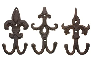 Amazon.com: Comfify - Juego de 3 ganchos de pared de hierro ...