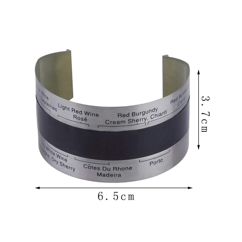 Acier inoxydable Affichage intelligent LCD /Électrique Bouteille De Vin Rouge Thermom/ètre Num/érique Temp/érature M/ètre Cuisine Outils Migavenn