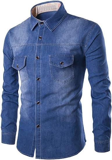 Discount Boutique Camisa Vaquera para Hombre Botón de Solapa ...