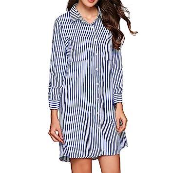 Mujer blusa vestido manga larga casual verano y Otoño,Sonnena Vestido de tres cuartos del