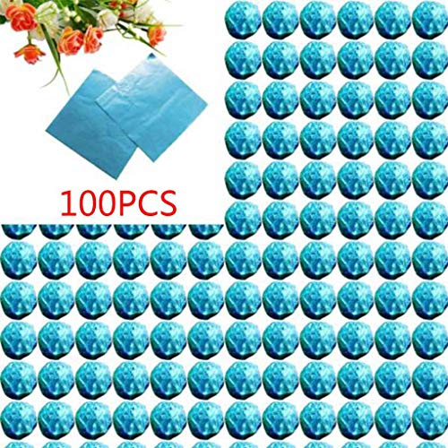Zerama 100pcs Square Aluminum Foil Wrappers Colorful Package for Sweets Candy Chocolate Lollipops ()