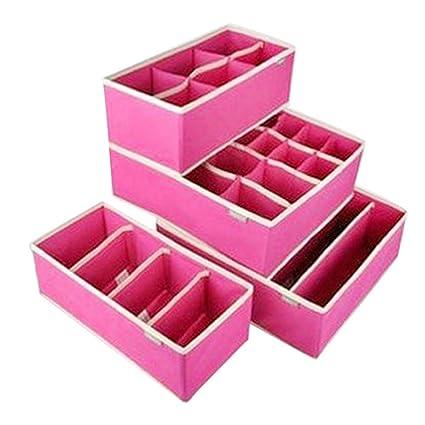SYT Storage Boxes Cajón Armario Organizadores Cajas para Ropa Interior Sujetador Almacenamiento No Tejido Calcetines Calcetines