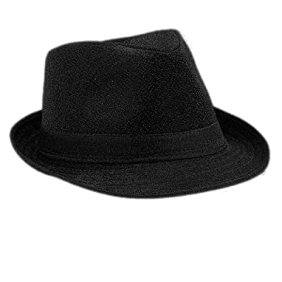 blinkee Soft Black Fabric Fedora Hat Non Light Up by: Toys & Games