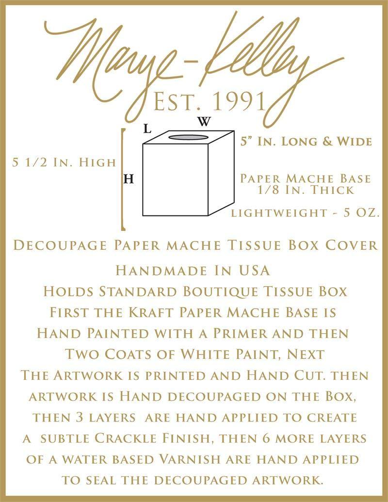 LSU Graduation Gift Paper Mache Tissue Box Cover