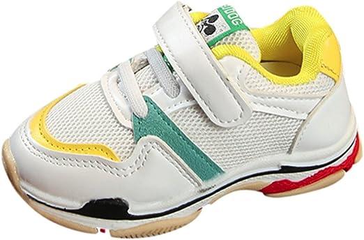 YanHoo Calzado Infantil niños y niñas Malla Transpirable Malla Infantil Zapatillas de Deporte Niños pequeños Deportes para niños Zapatos para Correr para niños Malla ...