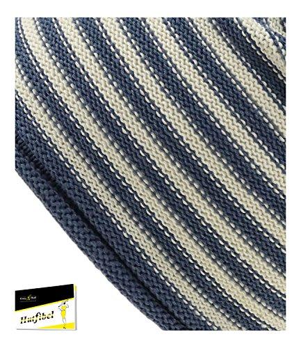 Jeans 67481 Para Del Hutfibel Rayas HE0 Azules Sombrero Punto De S18 A Gorro EveryHead Beanie Hombres Entretiempo Marca Fiebig Tapa Incl La Hombre Algodón FI 4Upwgw