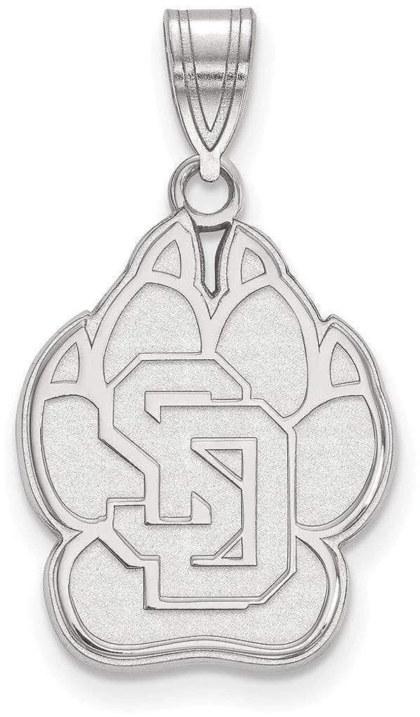 Sterling Silver University of South Dakota Large Pendant by LogoArt SS002USD