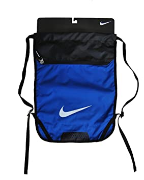Image Unavailable. Image not available for. Colour  Nike Swoosh Logo Draw  String Bag Gym Bag Gym-sack Blue Black ... 8be12ad7c1b9d