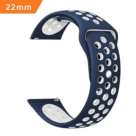 b23e1e11da444a iBazal Cinturino Gear S3 Silicone, Gear S3 Frontier/Classic Cinturino 22mm  Braccialetto per Samsung