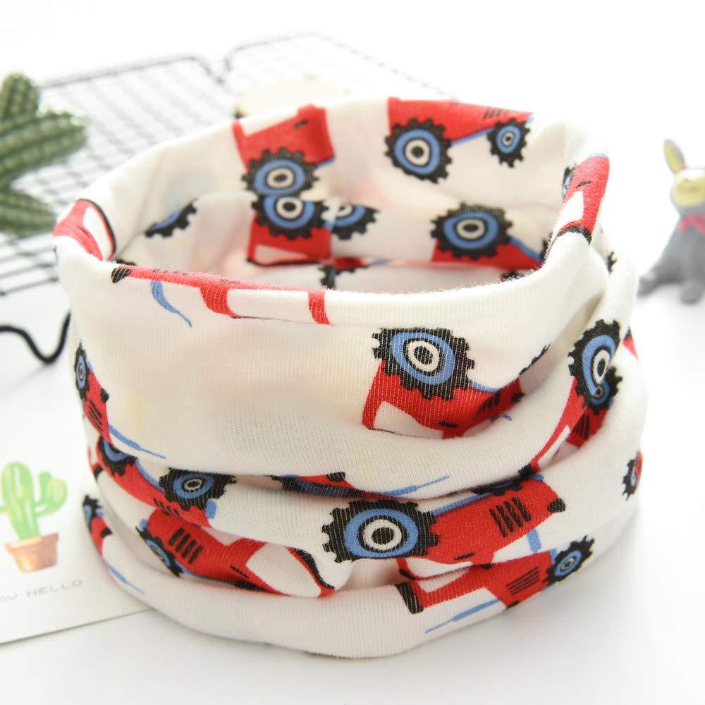 Autumn Winter Boys Girls Baby Cartoon Dog Warm Scarf Cotton O Ring Neck Scarves