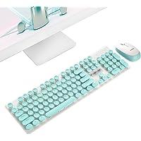 Pawaca teclado inalámbrico mouse, oficina de negocios -2,4 GHz Slim compacto portátil teclado inalámbrico y mouse combinado Kit para PC, computadora, portátil, Windows XP/7/8/10, diseño de botón silencioso