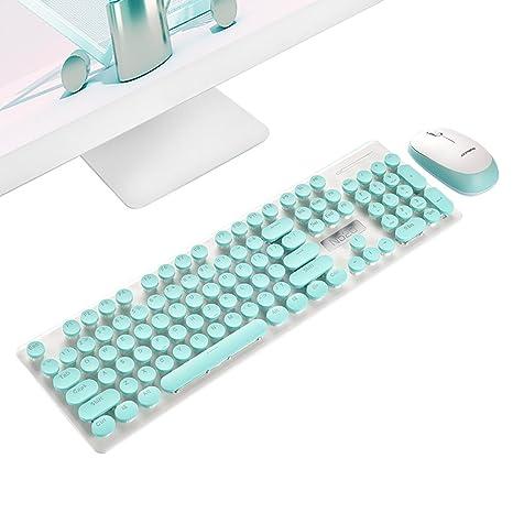 Pawaca teclado inalámbrico ratón, oficina de negocios -2,4 GHz Slim compacto portátil