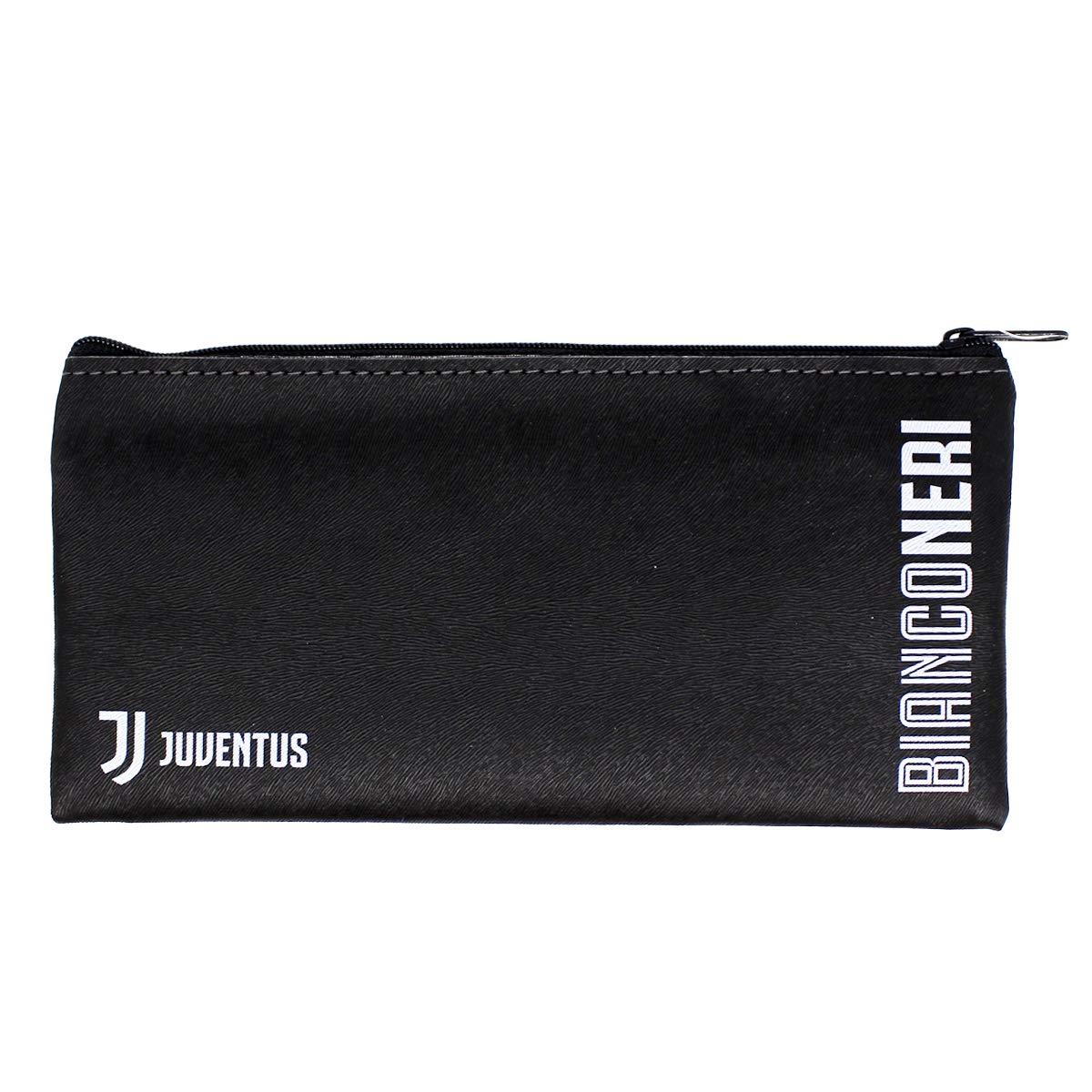 Stiftemappe schwarz 20 cm X 10 cm Juventus Turin F C