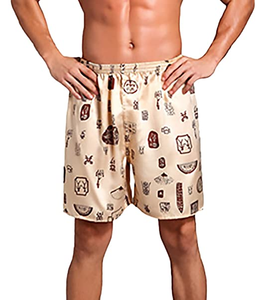 HaiDean Pantalones Hombres Pantalon Pijama Cintura Elástica Modernas Casual Impresión Suelto Tallas Grandes Ropa De Dormir