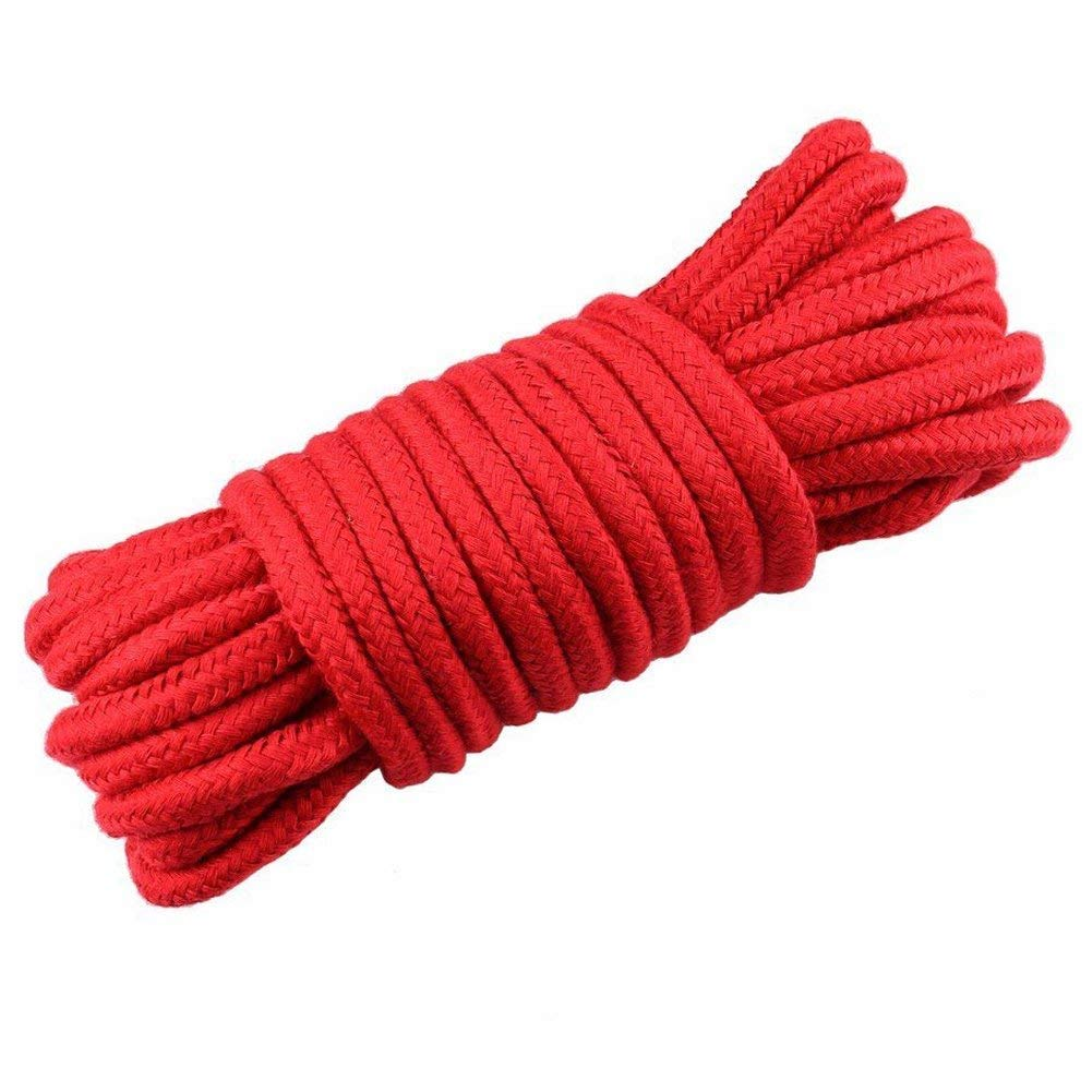 Black Red Purple Knot Tying Rope- Innovative deal 101 All Purpose Rope 3-Pack 32 Feet 10M Soft Twisted-Cotton Braided