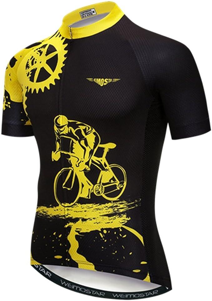 WEIMOSTAR Men Cycling Jersey Top Summer MTB Clothes Bicycle Short Sportwear Bike