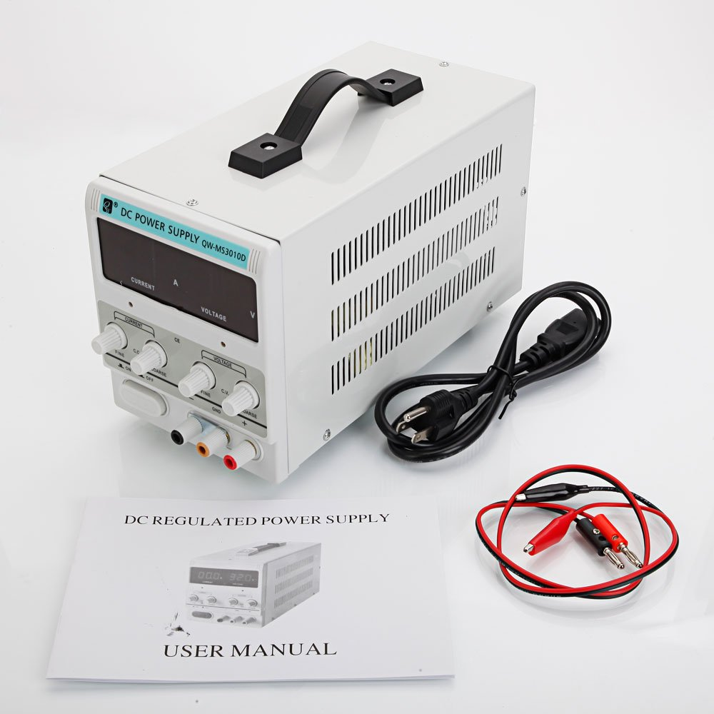 JinsChen QW-MS3010D 30V 10A Adjustable DC Stabilizer Power Supply US Standard