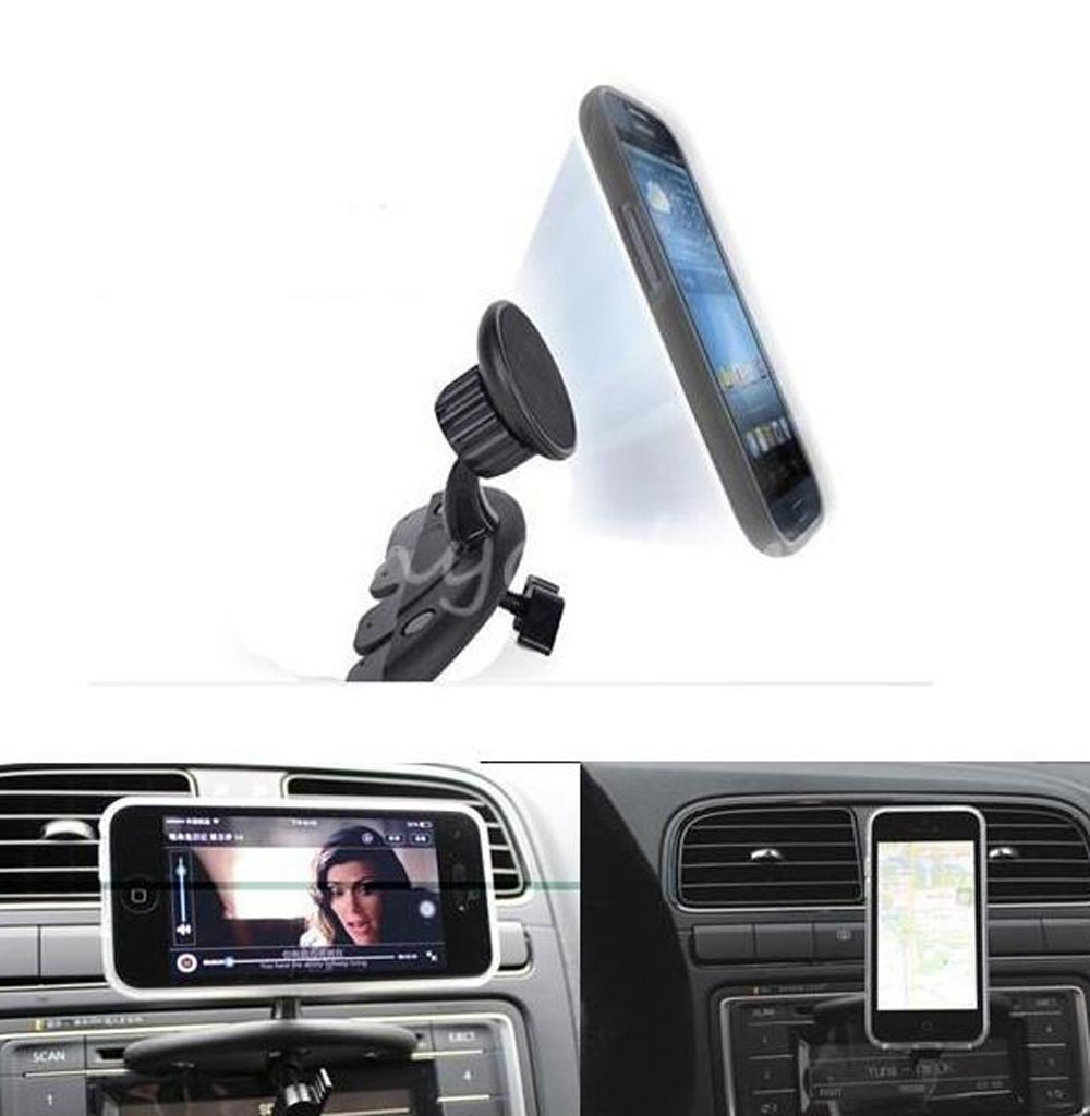 Ariic New Magnetic Car For CD Slot Mount Holder Stand For iPhone 4S 5 Galaxy S4 SAR215