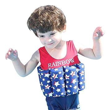 Bañador de una pieza con flotador integrado, para niños y niñas, Infantil, star printed, 5 años: Amazon.es: Deportes y aire libre