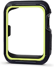 Lenfech Funda Deportiva para Apple Watch de 38mm y 42mm Caratula/Protector/Carcasa para iWatch de 38mm y 42mm. Series 1, 2, 3 Sport Case for Apple iWatch. Disponible en 7 Colores. (Negro-Verde, 42mm)